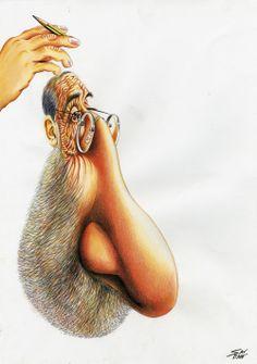 Prémio Especial de Caricatura Siza Vieira | 2.º Prémio | Santiagu | Portugal