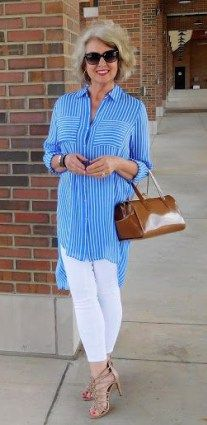 Fashion Trends for Women Over 50 - Fashion Trends 60 Fashion, Over 50 Womens Fashion, Fashion Over 40, Fashion Outfits, Fashion Trends, Mature Women Fashion, Casual Chic, Work Casual, Fashion Clothes