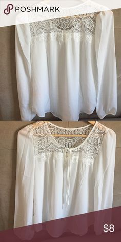❗️NWOT .Lace details top hot white. NWOT❗️ New Beautiful White Top.... Tops Blouses