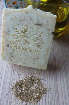 Castile Soap Bar with Chamomile Tea, Greek virgin olive oil soap with chamomile