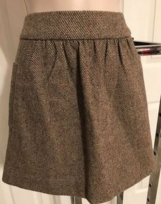 9a6fc1fa52 J Crew new short gray brown herringbone wool skirt 4 #fashion #clothing  #shoes