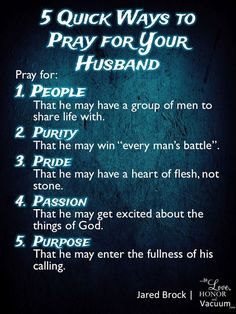 Christian Marriage Help: 5 Quick Ways to Pray for Your Husband!