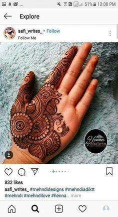 Ideas Bridal Mehendi Hands Henna For 2019 Henna Hand Designs, Mehndi Designs Finger, Full Hand Mehndi Designs, Mehndi Designs For Beginners, Mehndi Designs For Fingers, Henna Tattoo Designs, Simple Mehndi Designs, Dulhan Mehndi Designs, Mehndi Designs For Girls