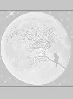 Full Moon. Cat in Tree Coloring Books, Coloring Pages, Printable Frames, Wiccan Crafts, Scrapbooking, Believe In Magic, Vector Shapes, Book Of Shadows, Moon Child