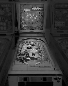 Saudade: Black and White Photos of Vintage Pinball Machines by Michael Massaia