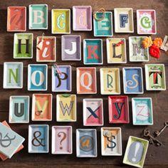 "Rosanna Alphabet Studio Trinket Tray      2.75""W x 4""H  $10"
