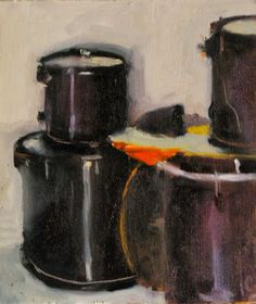 "Drums by Ian Costello Oil ~ 7"" x 6"""