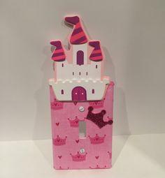 Princess Castle Light Switch Cover, Princess Switchplate Castle, Princess Nursery Decor - pinned by pin4etsy.com