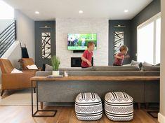 Ikea Sofa Table, Console Table Behind Sofa, Long Sofa Table, Sofa Table Decor, Modern Sofa Table, Sofa End Tables, Diy Table, Behind Couch Table Diy, Extra Long Console Table