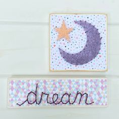 Excited to share this item from my shop: Nursery string art, moon string art Cute Crafts, Diy Crafts, Recycled Wood, Wall Hanger, Paper Background, String Art, Recycling, Nursery, Moon