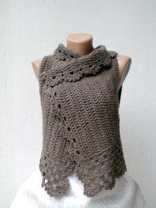 Lambswool Crochet Vest. Another beautiful garment that would look fabulous with a Foofaraw Shawlstick!
