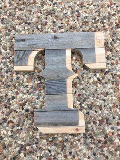 Texas Rangers Reclaimed Wood Letter T by DeborahLynnJewelry
