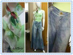 Pantalona jeans!  Linda e elegante.  Filhas de Nanita