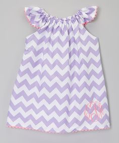 138b3b4c64 Look at this Lavender Zigzag Monogram Dress - Infant
