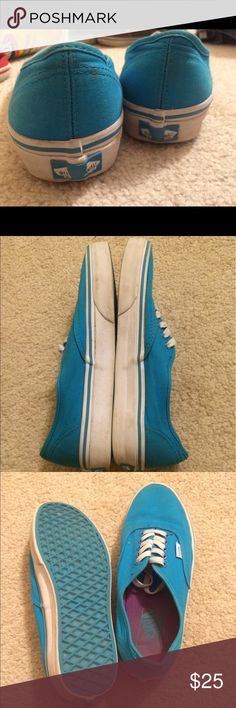 Blue Vans Men 6.5 Women 8 Barely worn Vans Vans Shoes Sneakers