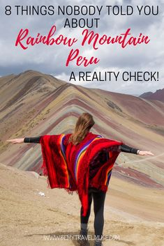 Secrets of Rainbow Mountain, Peru: How to Do it Right - The best guide to Rainbow Mountain, Peru: how to do it right? what it really looks like? Can you handle the altitude? Will the weather be an issue? All of your questions answered in this article Peru Travel, Solo Travel, Travel Tips, Brazil Travel, Argentina Travel, Travel Goals, Hawaii Travel, Budget Travel, Italy Travel