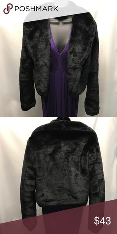 YA LOS ANGELES faux fur jacket Super soft black cropped faux fur jacket by Ya Los Angeles. Beautiful condition! Ya Los Angeles Jackets & Coats