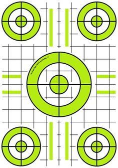"""10"""" x 14"""" Paper Target in Limon with 1"""" grid."""
