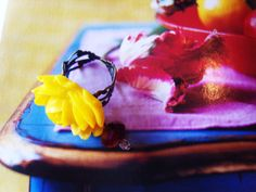Yellow Rose Ring by TheEnglishEclectic on Etsy, $20.00