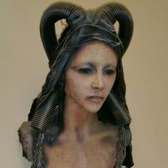 """Earth goddess "" 990mm tall air drying clay and plaster sculpture"