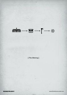 The Shining - pictogram movie poster Minimal Movie Posters, Minimal Poster, Cinema Posters, Film Posters, Scary Movies, Great Movies, The Shining Film, Film Transformers, Poster Minimalista
