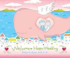 結婚式ウェルカムボード | 動物や天使のウェルカムボード 手作り風の想いの伝わる結婚式!