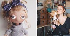 Umelkyňa ručne vyrába nežné bábiky, ktoré si vás svojim pohľadom ihneď podmania! Ručne šité a maľované bábiky s veľkými očami od Daria Gulenko. Handmade