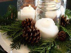 Canadian Rustic Christmas DIY Mason Jar Candle