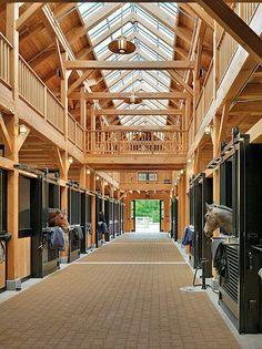 Beautiful barn hall with natural light.