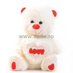 Ursulet de plus alb D-13-big Stuffed Animals, Teddy Bear, Toys, Activity Toys, Clearance Toys, Plushies, Teddy Bears, Gaming, Stuffed Animal Patterns