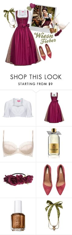 """Wiesn Fieber"" by fashion-makes-people ❤ liked on Polyvore featuring Polaroid, M&S, Molton Brown, H&M, Essie, Dsquared2, berry, traditional and dirndl"