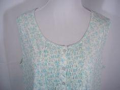 Miss Elaine XL X Large Gown Robe Set Blue Floral NWT Cotton Blend Zipper Close #MissElaine #RobeGownSets