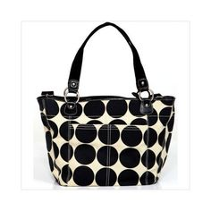 OiOi Ebony/Desert Dot Tote Diaper Bag available at Izzy Maternity.