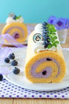 「ココナッツオイルと米粉のブルーベリーレアチーズロール」ぱお | お菓子・パンのレシピや作り方【corecle*コレクル】