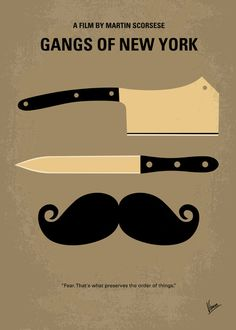 No195 My Gangs of New York minimal movie poster Art Print by Chungkong