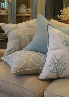 - Laguna Collection - #BeachPillows | #CoastalPillows