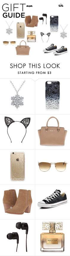 """#presents for mom and sis*"" by stitch51 ❤ liked on Polyvore featuring Marc by Marc Jacobs, Fleur du Mal, Michael Kors, Rifle Paper Co, Persol, Franco Sarto, Converse, Skullcandy and Givenchy"