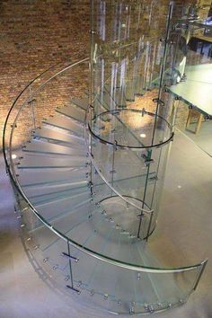 laminated glass for safety glass stairs Staircase Railings, Modern Staircase, Staircase Design, Stairways, Staircase Glass, Staircase Storage, Stair Design, Floating Staircase, Spiral Staircases