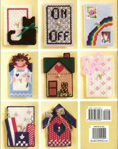 Plastic Canvas Light Switch Cover (house) Single and Double switch Plastic Canvas Ornaments, Plastic Canvas Crafts, Plastic Canvas Patterns, Switch Plate Covers, Light Switch Covers, Switch Plates, Rainbow House, Picture Ornaments, Fusion Beads