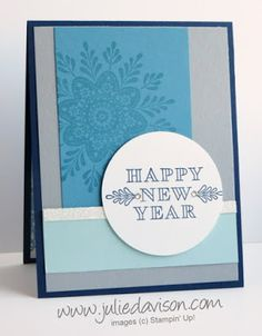 Frosted Medallions Happy New Year Card