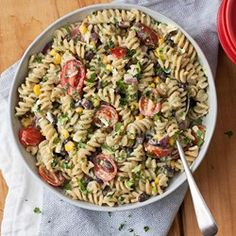 Mexican Pasta Salad with Creamy Avocado Dressing - EatingWell.com