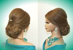 Hairstyles for long hair. Updo hairstyles. Wedding bridal hairstyle.