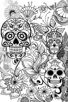 Printable Adult Coloring Pages Skulls Best Of Pin by Barbara On Coloring Skull Mandala Coloring Pages, Coloring Pages To Print, Free Coloring Pages, Coloring Books, Coloring Sheets, Colouring Pages For Adults, Abstract Coloring Pages, Flower Coloring Pages, Coloring Pages Inspirational