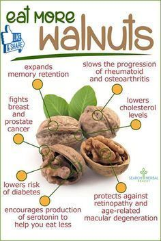 Eat more Walnuts - Helps Memory & Metabolism - Anti Breast and Prostate Cancers