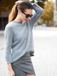 Le camaïeu de gris, une bonne alternative au total look noir