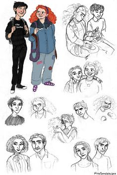 rainbowrowell: missyserendipity: Eleanor and Park doodles because they're just the cutest ft. parents and actual garbage WOW. The parents are amazing … I Love Books, Good Books, My Books, How Soon Is Now, Eleanor And Park, Person Drawing, Rainbow Rowell, Book Show, Book Fandoms