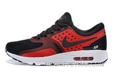 cheap for discount d1cb2 8f12a Soldes Jusqu a 70% De Reduction Homme Nike Air Max Zero Qs Noir Rouge  Blanche Baskets Pas Cher Du Tout New