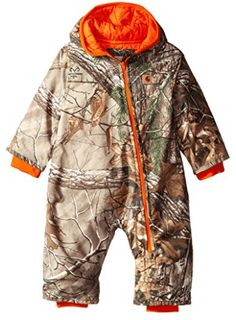 Carhartt Baby Boys' Camo Snowsuit, Cream, 6 Months: Triple stitched main seams for added durability diagonal full zip and quilted taffeta lining permit easy entry exit Baby Boy Camo, Camo Baby Stuff, Baby Boy Outfits, Kids Outfits, Baby Boy Snowsuit, Baby Boy Jackets, Baby In Snow, Baby Cooking, Carhartt Jacket