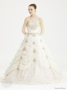 Pretty Fairy Tale Princess Style Ball Gown Wedding Dresses From Japan Based Takami Bridal Royal 2012 Collection