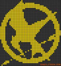 Hunger games Minecraft pixel art template